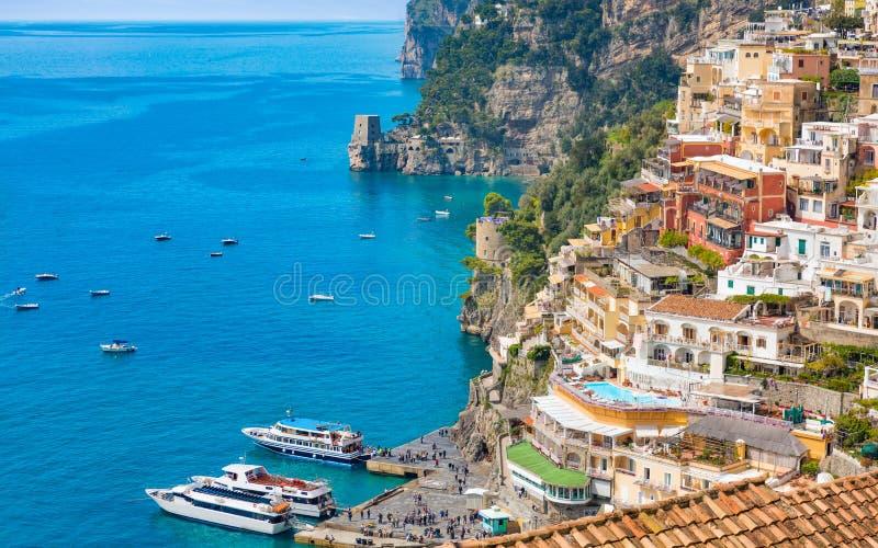 Mooie Positano, Amalfi Kust in Campania, Itali? stock foto's