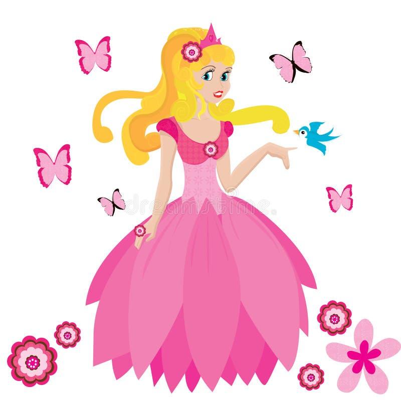 Mooie prinses royalty-vrije illustratie