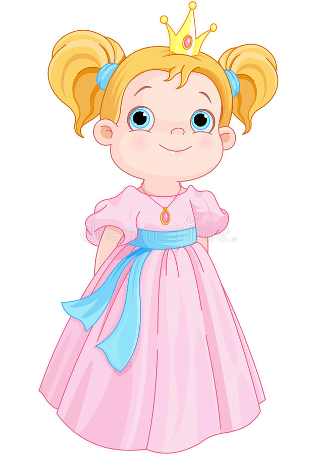 Mooie prinses stock illustratie