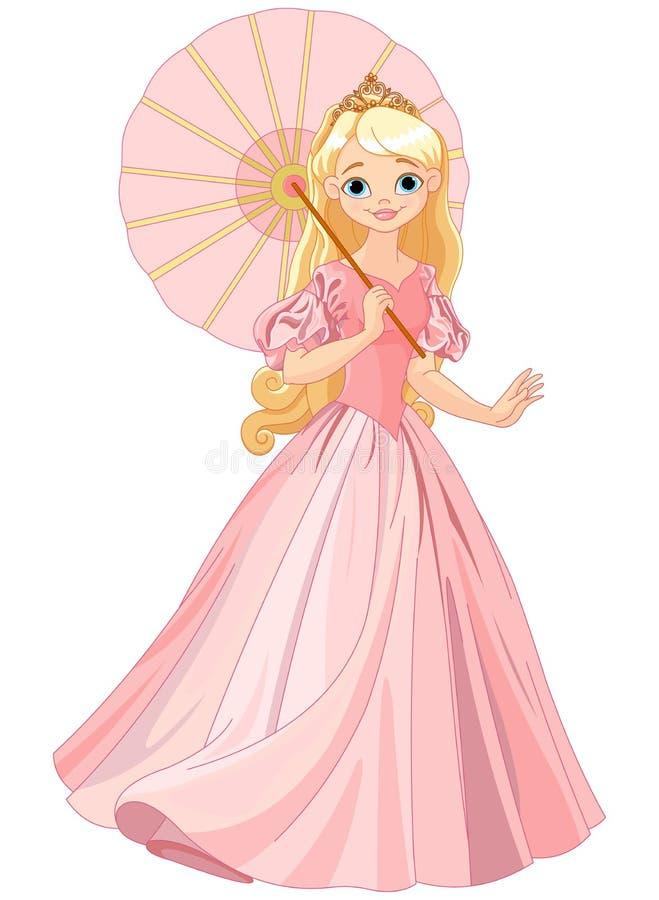 Mooie prinses bij de zomerdag royalty-vrije illustratie