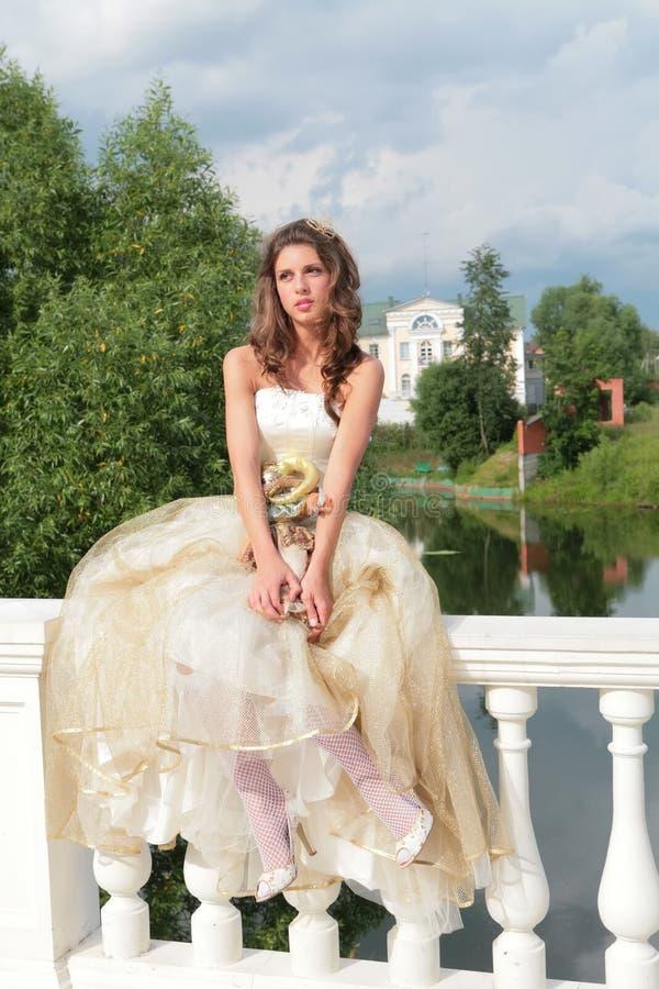 Mooie prinsesdromen van toekomst royalty-vrije stock afbeelding