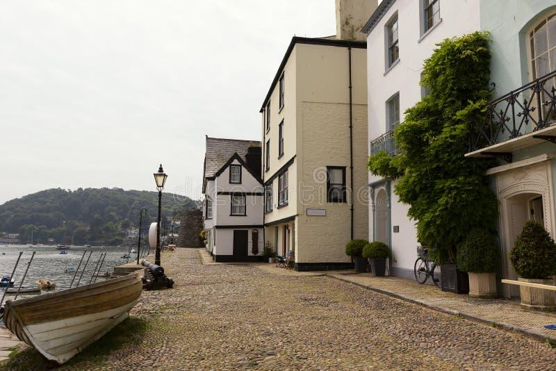 Mooie Quayside, in Dartmouth, Devon, het UK stock afbeelding