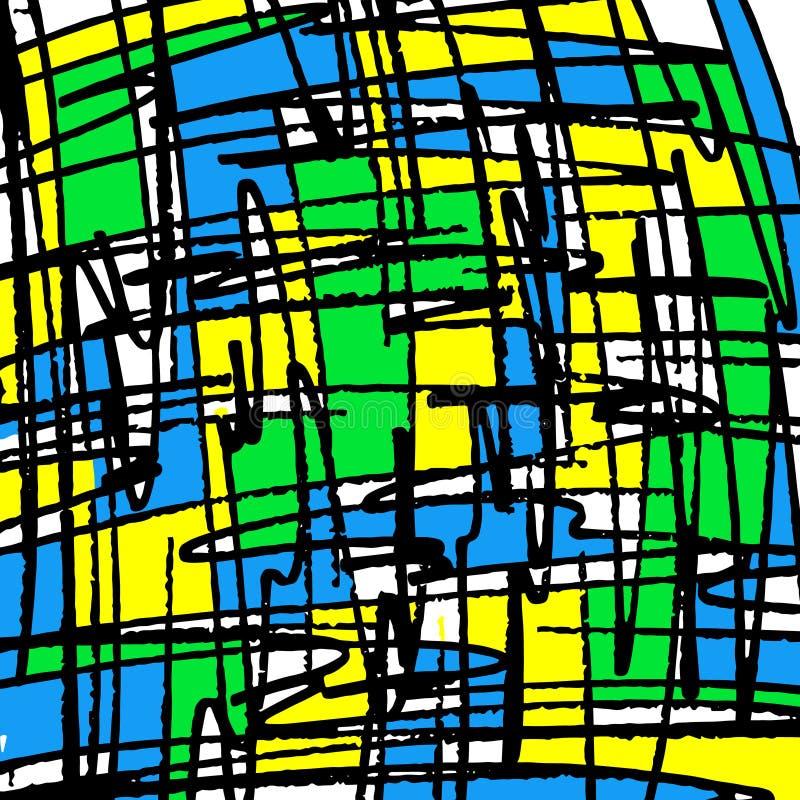 Mooie rassenbarri?resgraffiti op een zwarte illustratie als achtergrond stock illustratie