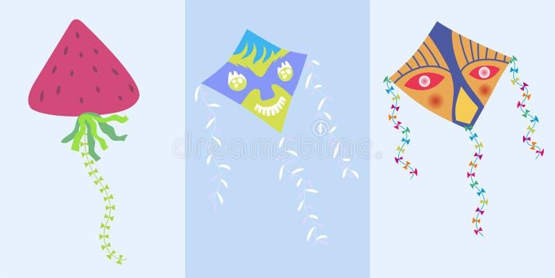 Mooie reeks van vlieger Vector illustratie Vlakke stijl Sluit omhoog van gebraden ei in pan op zwarte achtergrond royalty-vrije stock fotografie