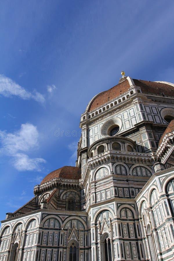 Mooie renaissancekathedraal Santa Maria del Fiore in Florence, Italië stock afbeelding