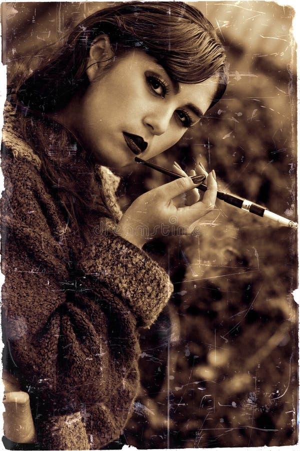Mooie retro gestileerde foto royalty-vrije stock foto's