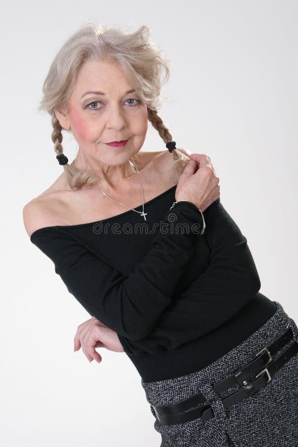 Mooie rijpe Dame stock afbeelding