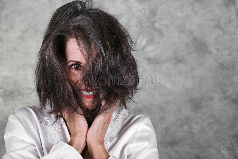 Mooie rijpe vrouw stock fotografie