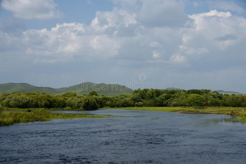 Mooie rivier stock afbeelding