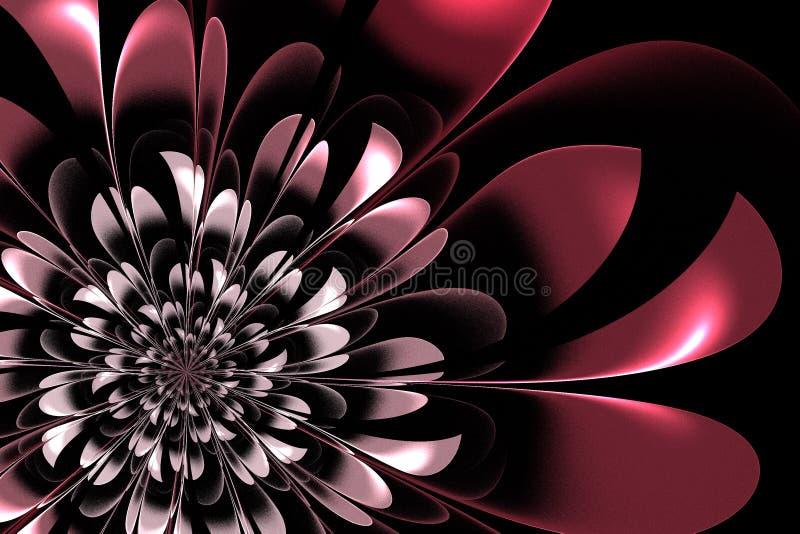 Mooie roze bloem in fractal ontwerp Kunstwerk voor creatief DE royalty-vrije illustratie
