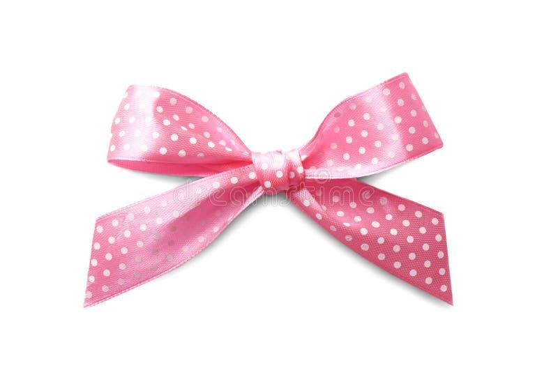 Mooie roze boog met stippatroon royalty-vrije stock fotografie