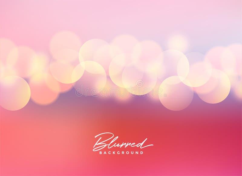 Mooie roze vage bokeh lichtenachtergrond royalty-vrije illustratie