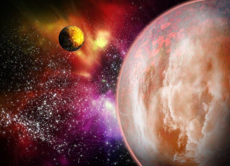 Mooie ruimteachtergrond. vector illustratie