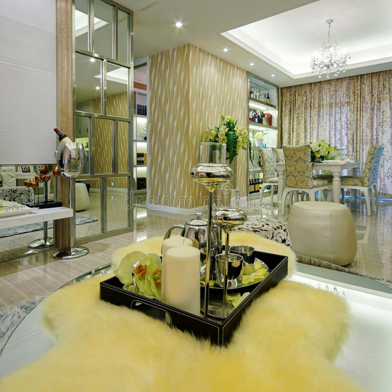 Mooie ruimtedecoratie royalty-vrije stock foto