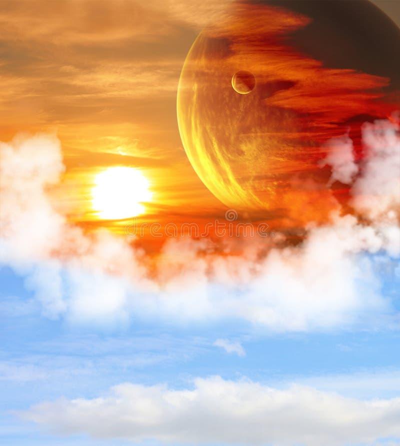 Mooie ruimtescène stock illustratie
