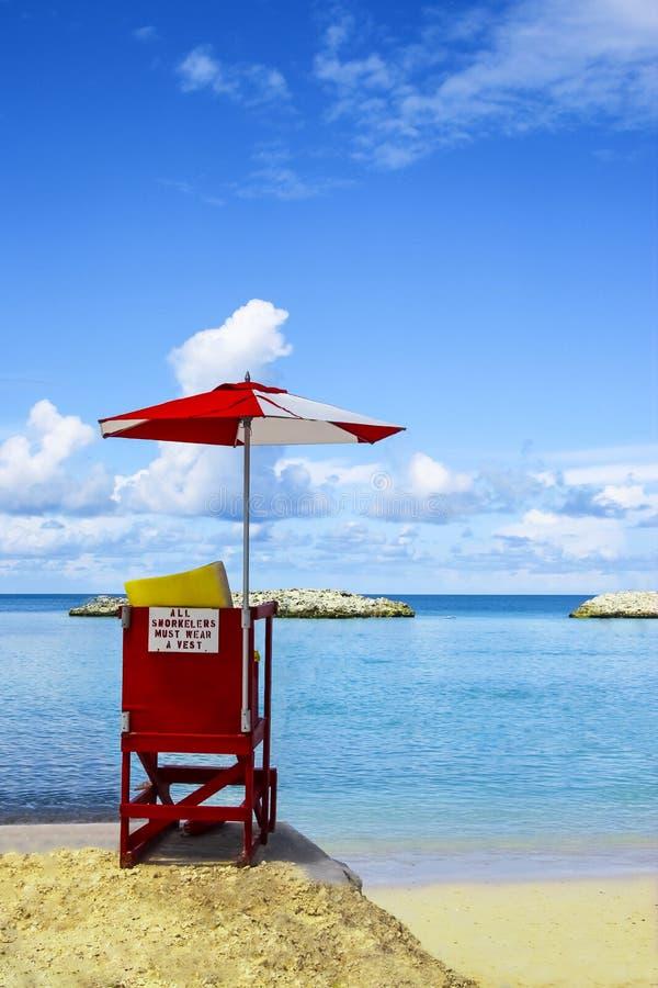 Mooie scène van strand in Nassau, de Bahamas stock fotografie