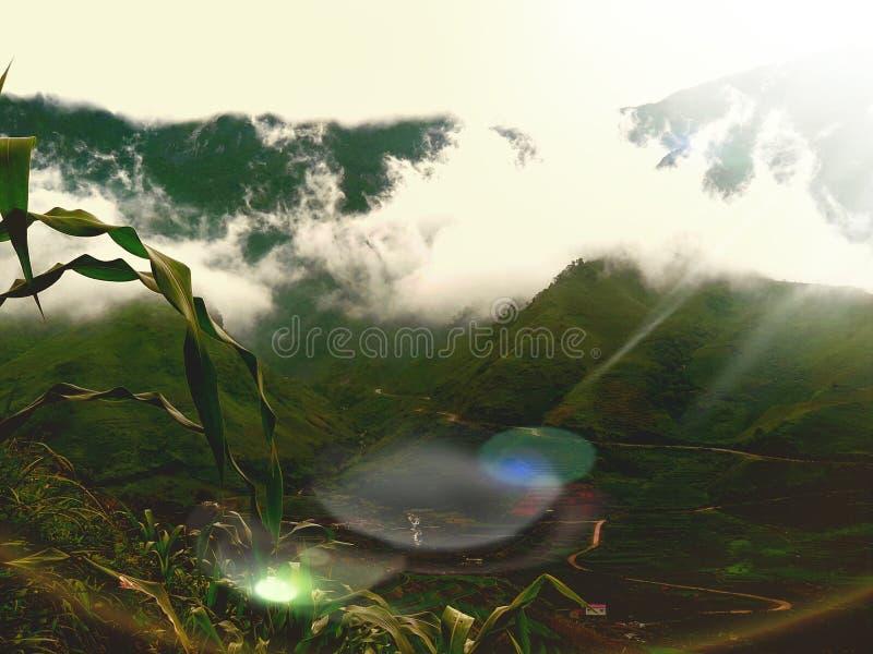 Mooie scène in Vietnam stock afbeelding