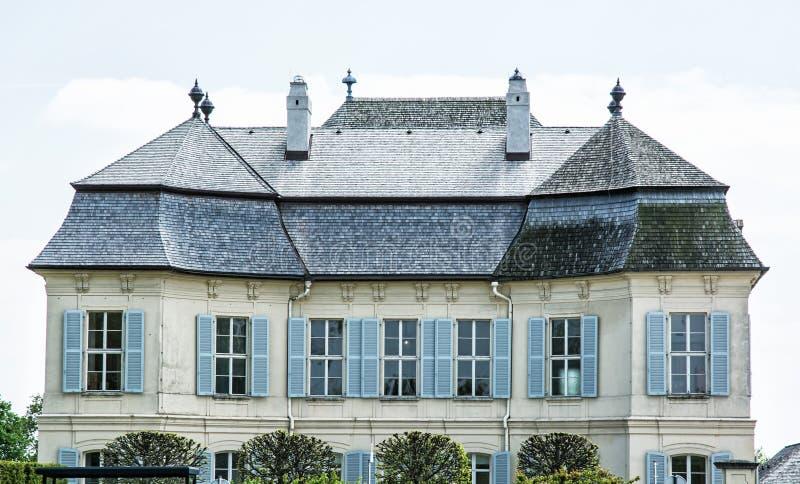 Mooie Schloss Niederweiden in Oostenrijk, detailfoto stock foto's