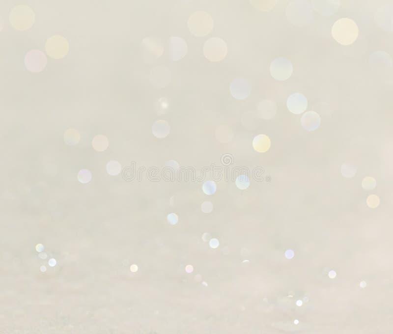 Mooie schone witte achtergrond met zachte sparkly kleuren stock foto