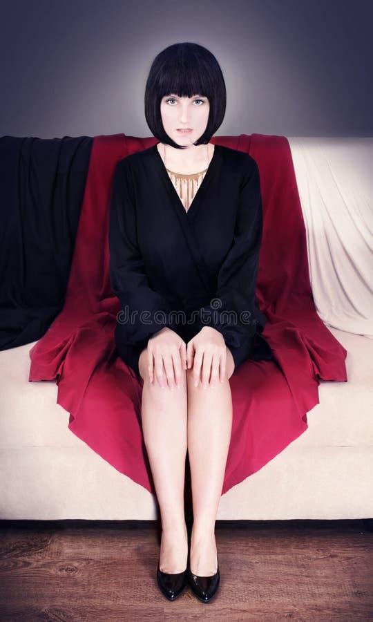 Mooie, sexy bedrijfsvrouw royalty-vrije stock foto
