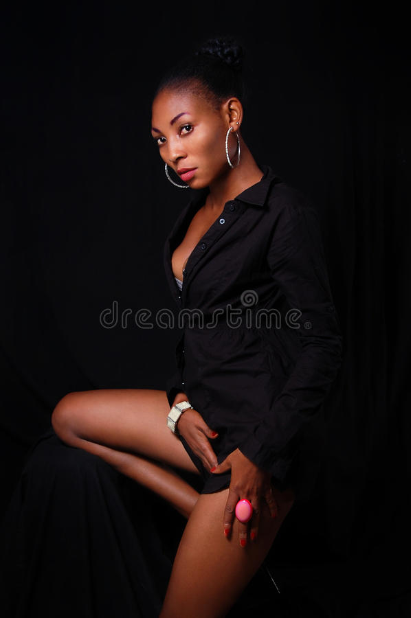Mooie sexy jonge Afrikaanse Amerikaan royalty-vrije stock foto's