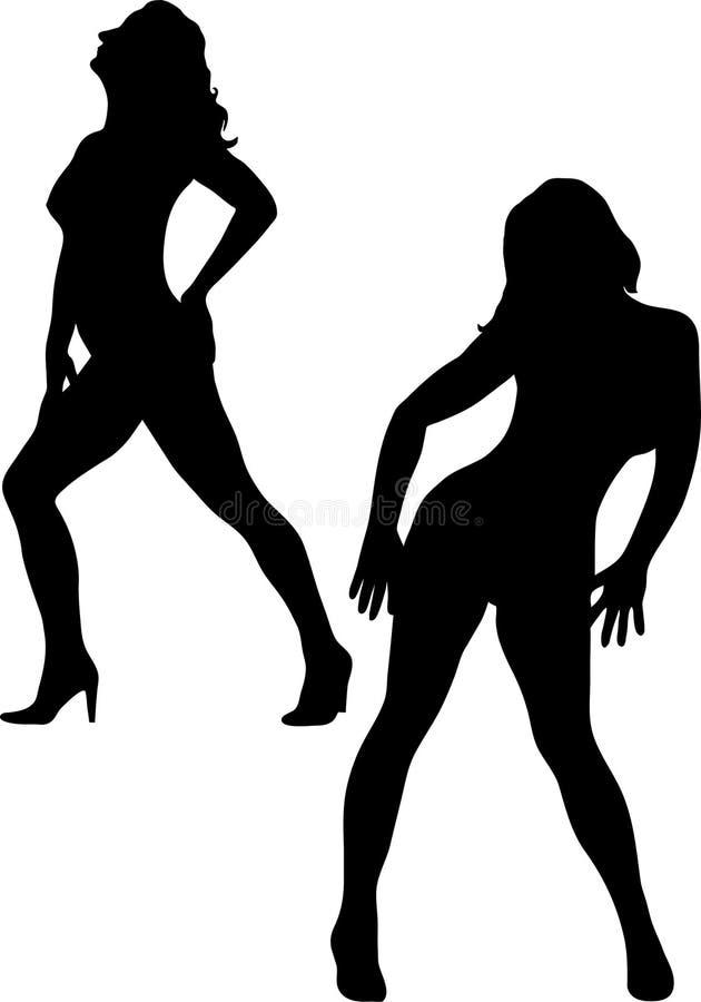 Mooie sexy vrouw twee vector illustratie