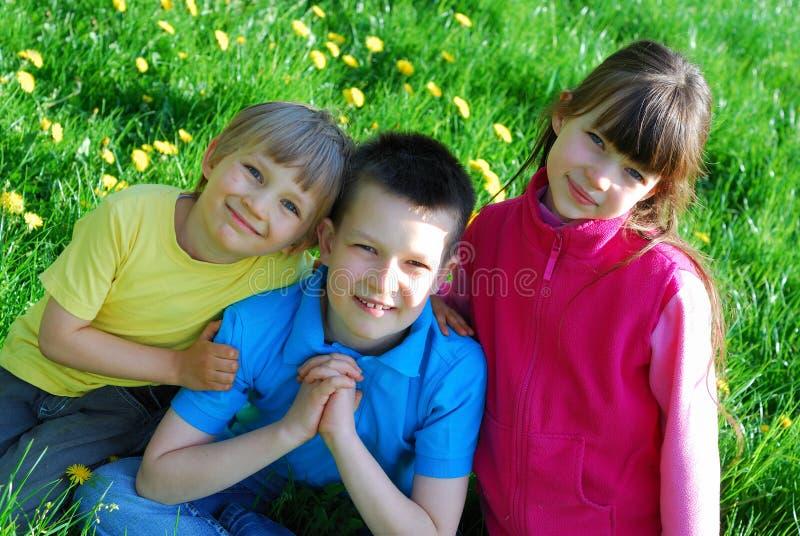 Mooie siblings royalty-vrije stock foto