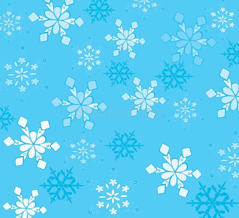 Mooie sneeuwvlokken stock illustratie