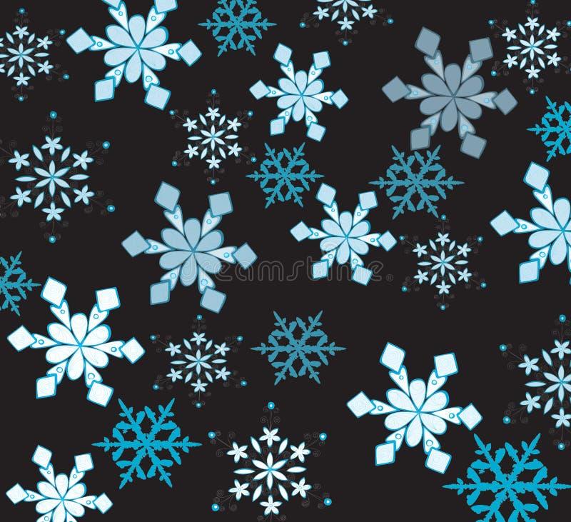 Mooie sneeuwvlokken royalty-vrije illustratie