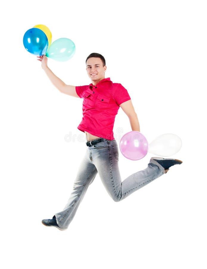 Mooie springende mensen stock fotografie