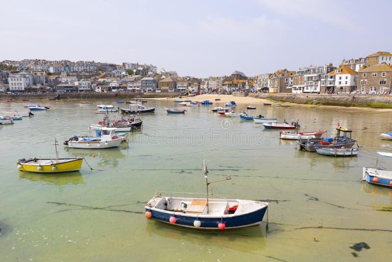 Mooie St Ives baai, Cornwall, het UK stock foto