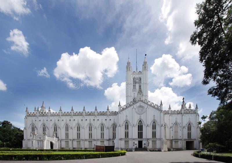 Mooie St Paul Kathedraal van Kolkata stock foto