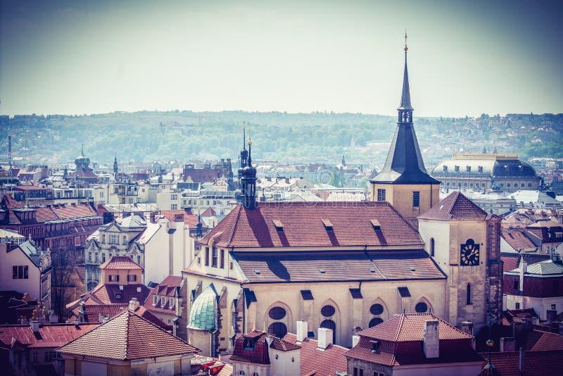 Mooie Stad Praag in het midden van Europa stock afbeelding