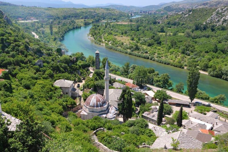 Mooie stad van Pocitelj in Herzegovina royalty-vrije stock afbeelding
