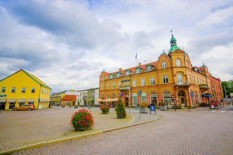 Mooie stad van Simrishamn, Zweden royalty-vrije stock afbeelding