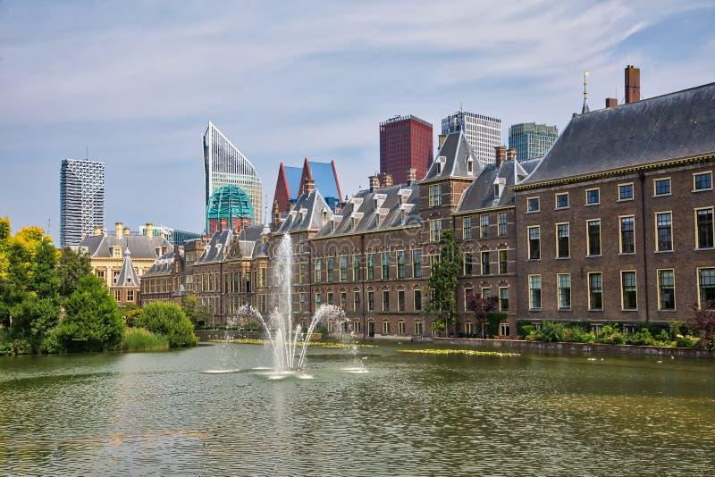 Mooie stadsmening van de stad van Den Haag royalty-vrije stock fotografie