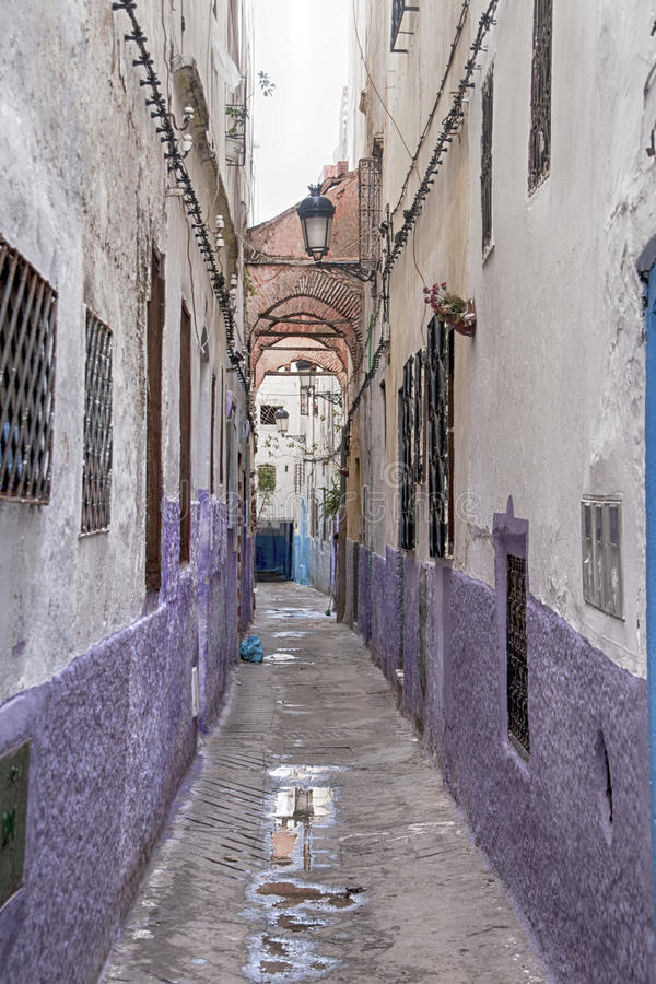 Mooie steden in noordelijk Marokko, Tetouan royalty-vrije stock afbeelding