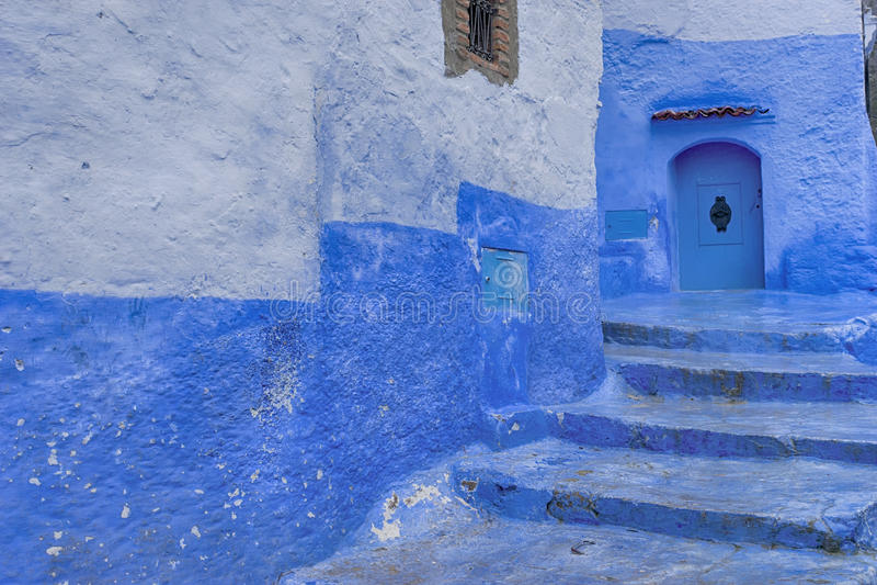 Mooie steden van Marokko, Chefchaouen stock foto