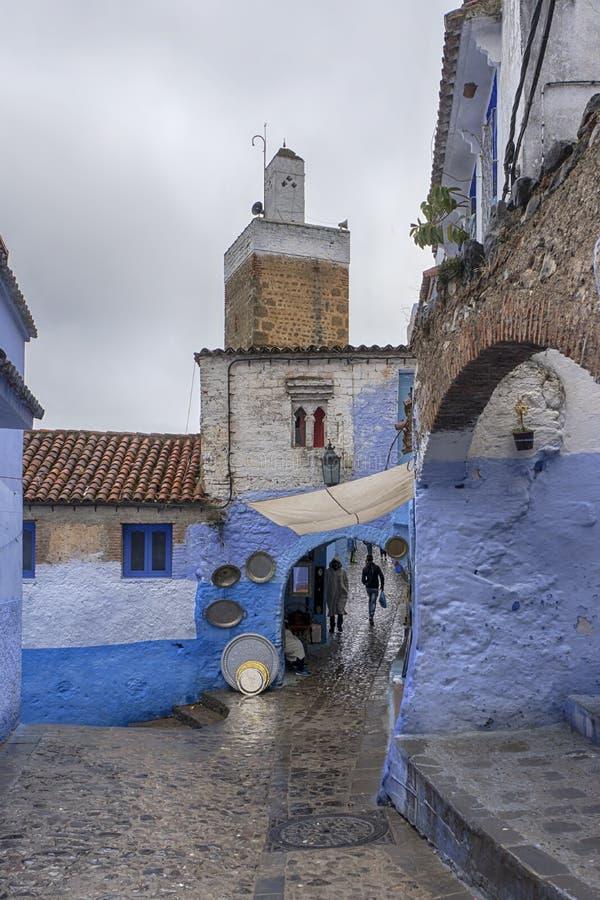 Mooie steden van Marokko, Chefchaouen royalty-vrije stock afbeeldingen