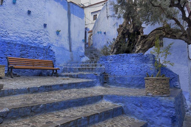 Mooie steden van Marokko, Chefchaouen stock fotografie