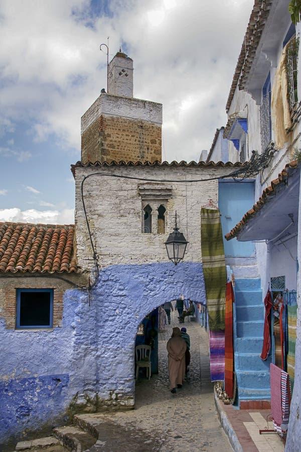 Mooie steden van Marokko, Chefchaouen royalty-vrije stock foto's