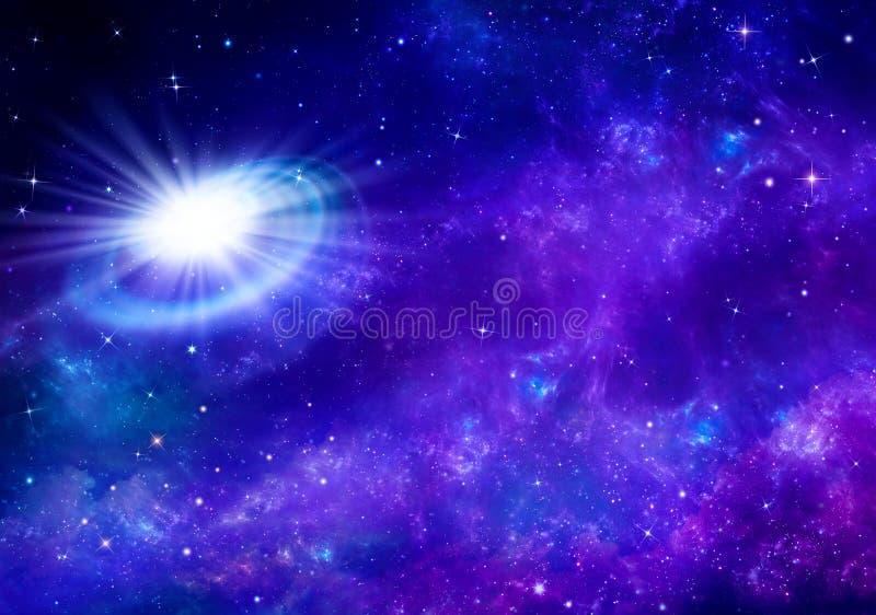 Mooie sterrige hemel, ruimteachtergrond vector illustratie