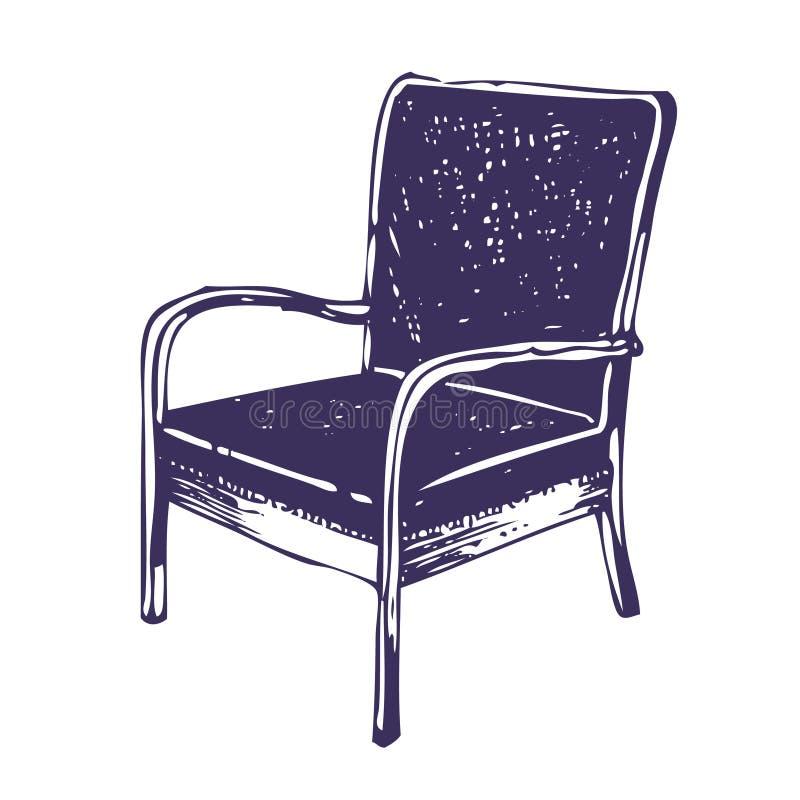 Mooie stoel vector illustratie