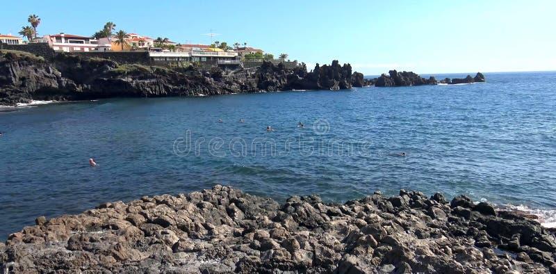 Mooie stranden van het eiland van Tenerife stock foto