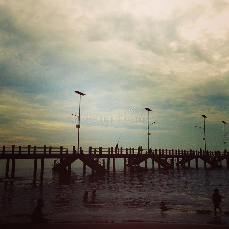 mooie strandpringgabaya stock fotografie