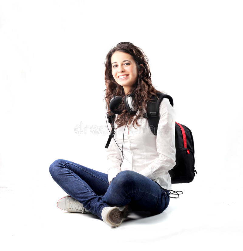 Mooie student royalty-vrije stock afbeelding