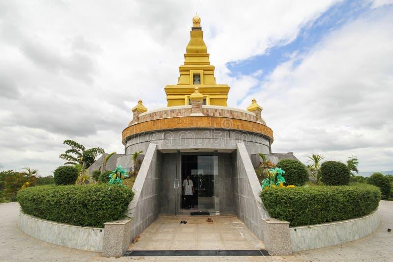 Mooie tempel bij de Provincie van Nong Bua Lamphu, Thailand royalty-vrije stock fotografie