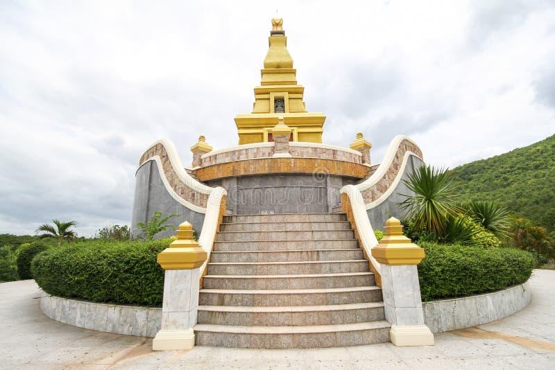 Mooie tempel bij de Provincie van Nong Bua Lamphu, Thailand stock afbeelding