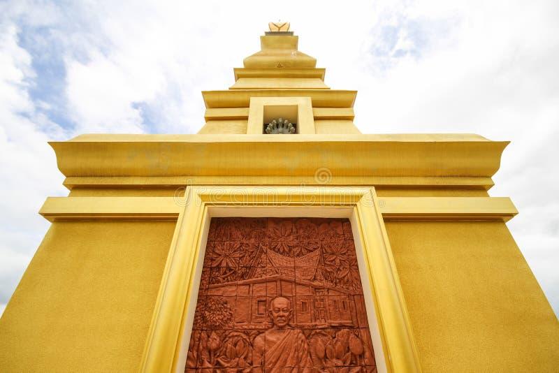 Mooie tempel bij de Provincie van Nong Bua Lamphu, Thailand royalty-vrije stock afbeeldingen