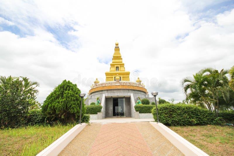 Mooie tempel bij de Provincie van Nong Bua Lamphu, Thailand royalty-vrije stock foto
